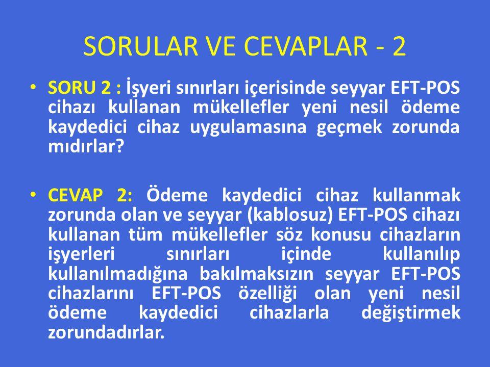 SORULAR VE CEVAPLAR - 2