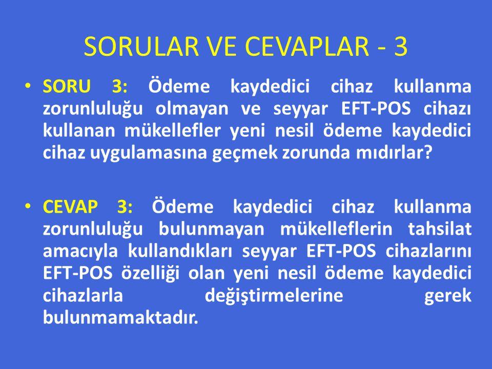 SORULAR VE CEVAPLAR - 3