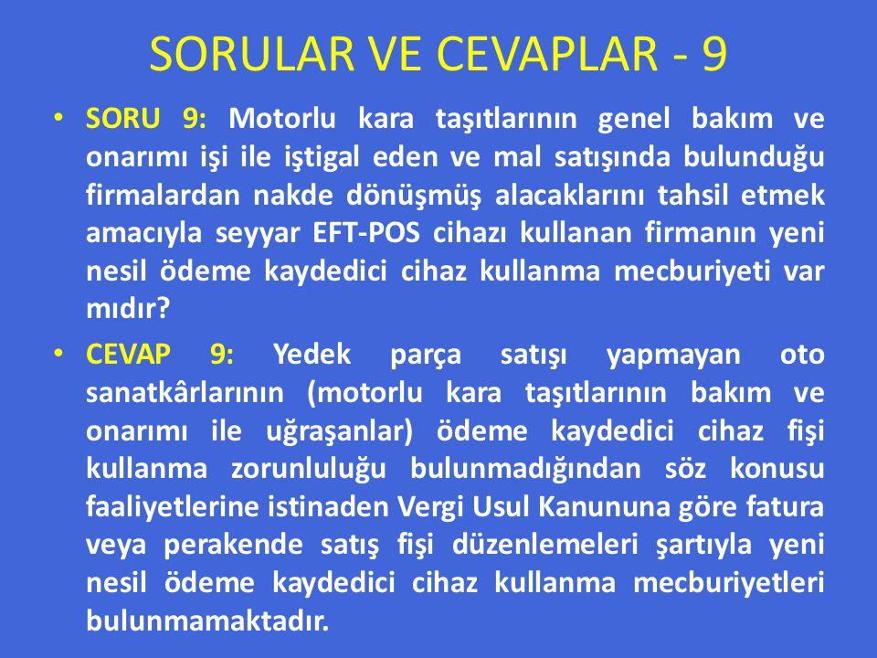 SORULAR VE CEVAPLAR - 9