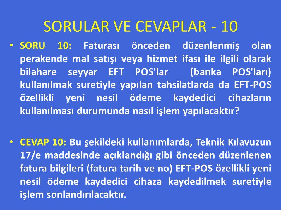 SORULAR VE CEVAPLAR - 10