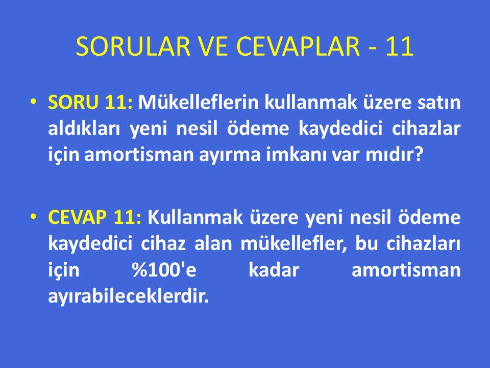 SORULAR VE CEVAPLAR - 11