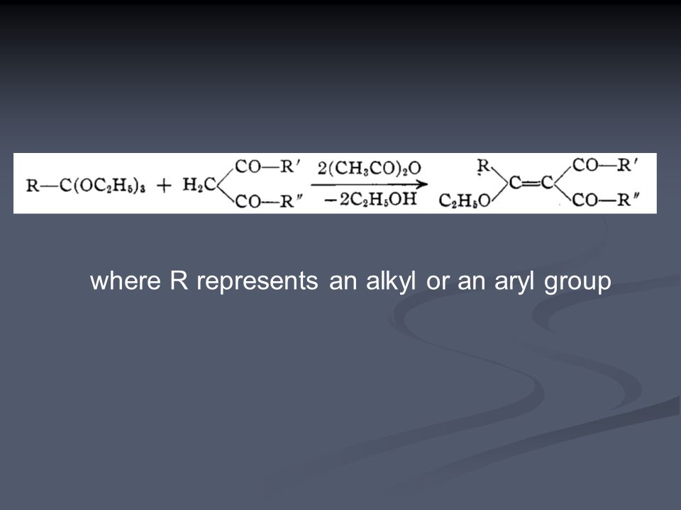 where R represents an alkyl or an aryl group