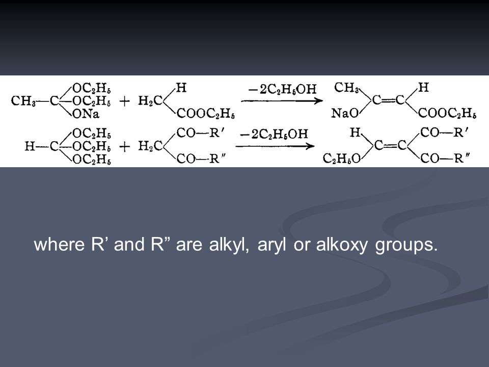 where R' and R are alkyl, aryl or alkoxy groups.