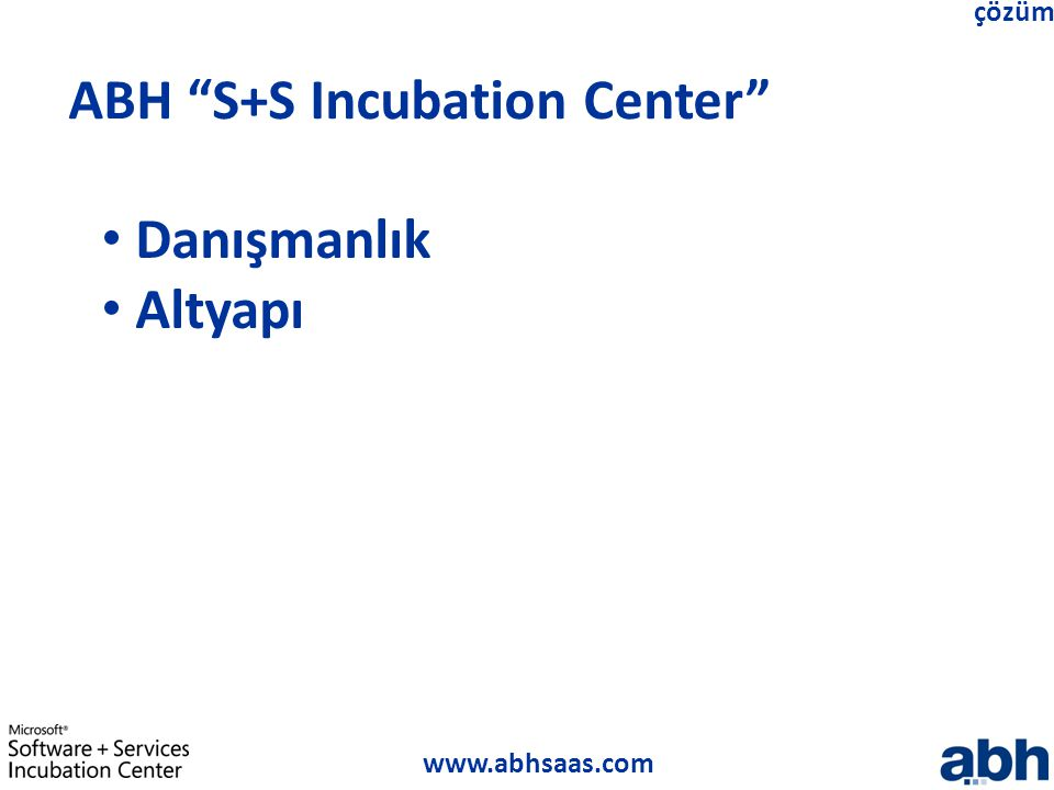 ABH S+S Incubation Center