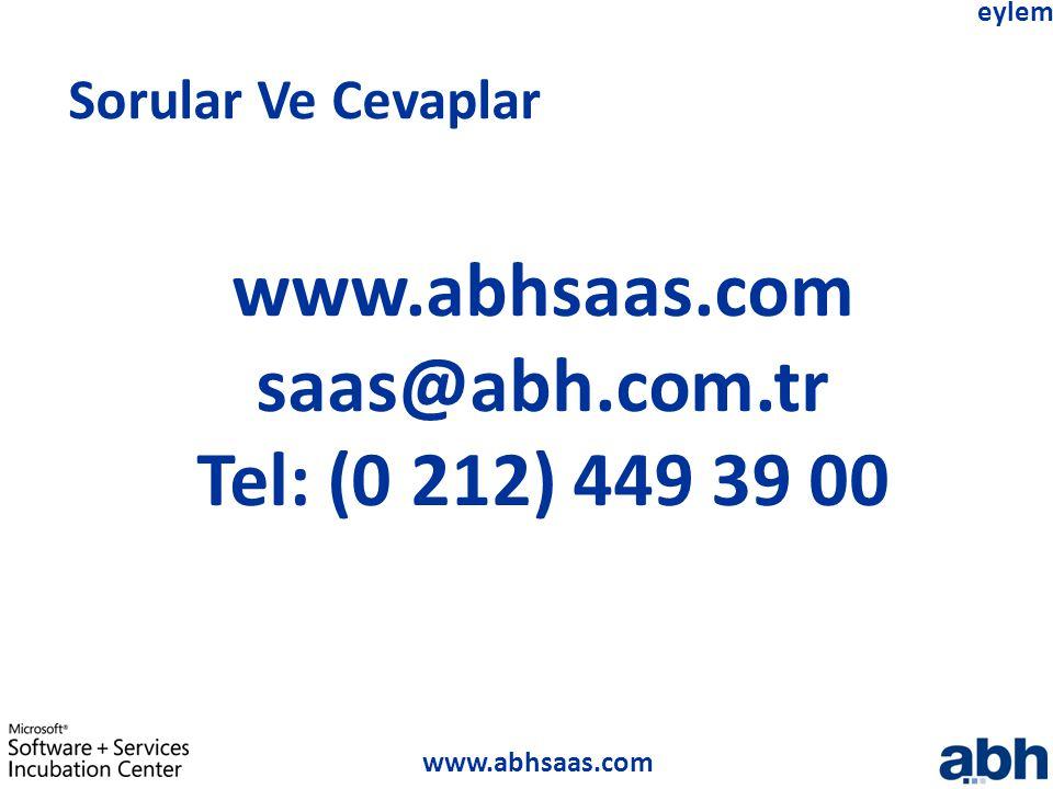 www.abhsaas.com saas@abh.com.tr Tel: (0 212) 449 39 00