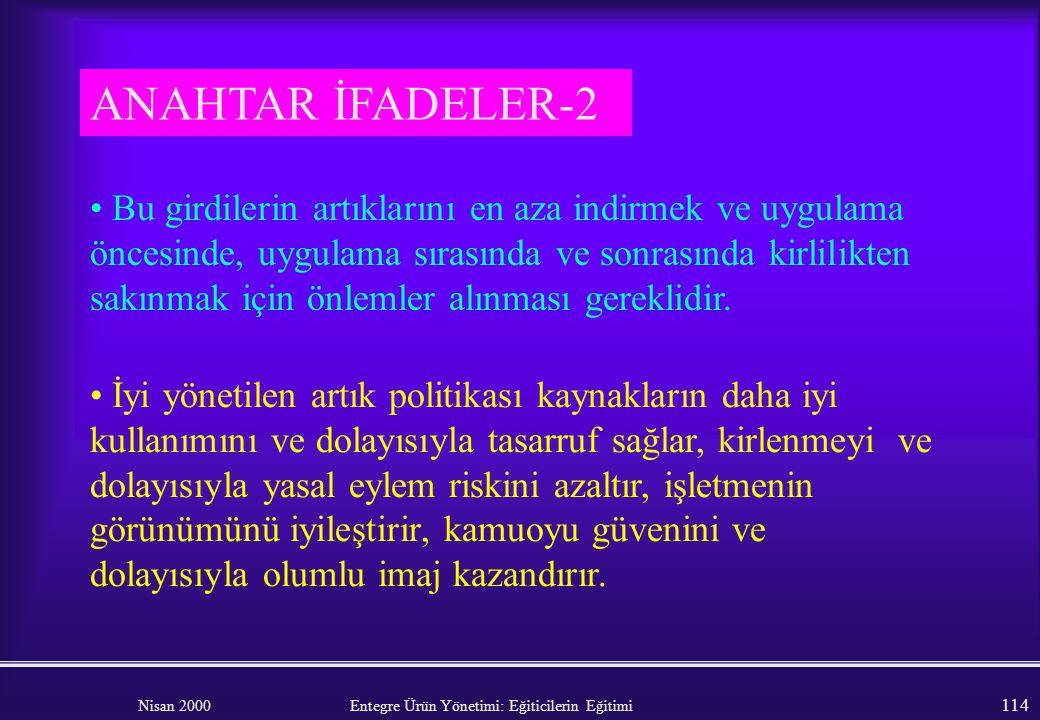 ANAHTAR İFADELER-2