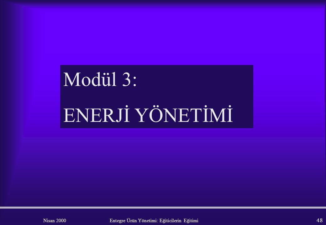 Modül 3: ENERJİ YÖNETİMİ