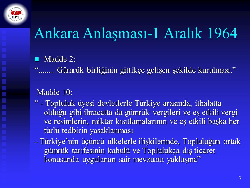 Ankara Anlaşması-1 Aralık 1964