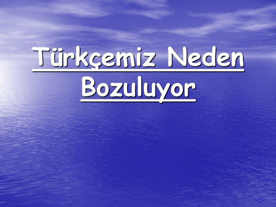 Türkçemiz Neden Bozuluyor