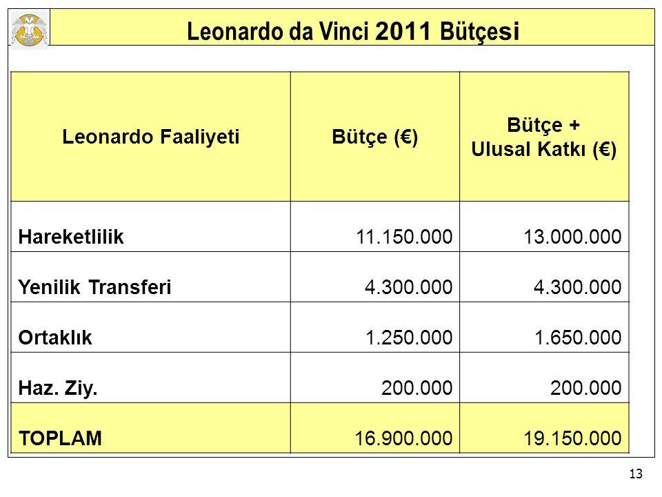 Leonardo da Vinci 2011 Bütçesi