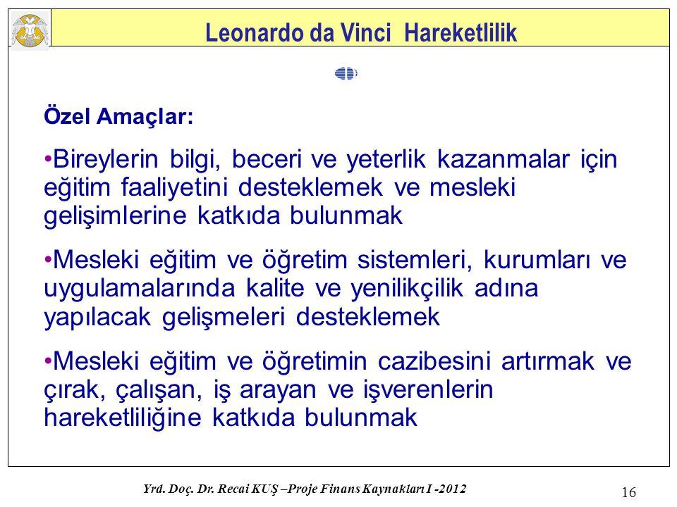 Leonardo da Vinci Hareketlilik