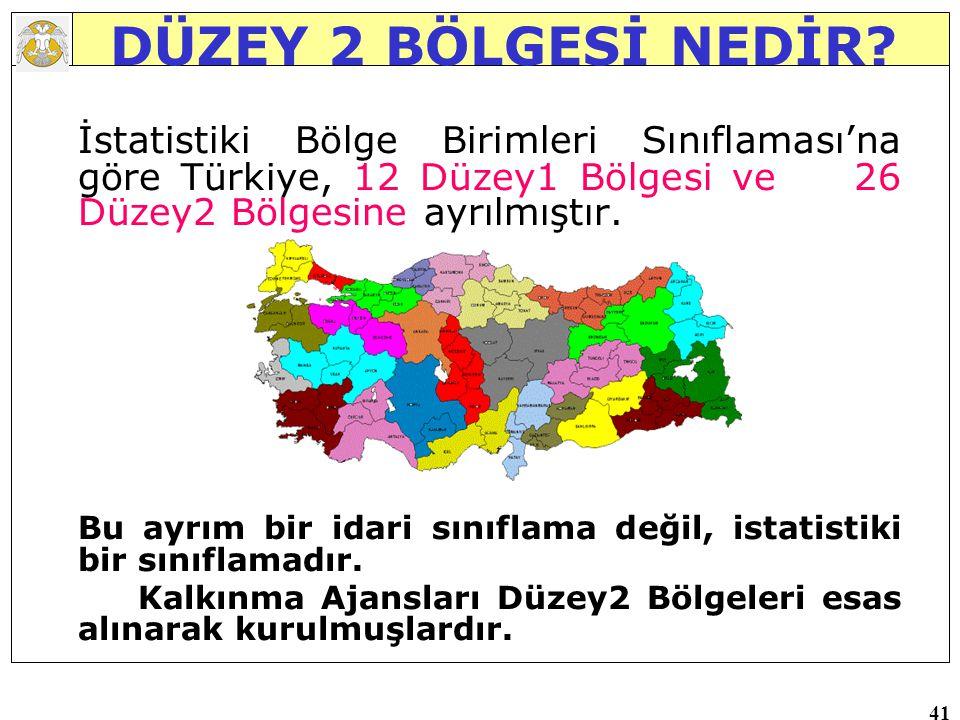 DÜZEY 2 BÖLGESİ NEDİR İstatistiki Bölge Birimleri Sınıflaması'na göre Türkiye, 12 Düzey1 Bölgesi ve 26 Düzey2 Bölgesine ayrılmıştır.