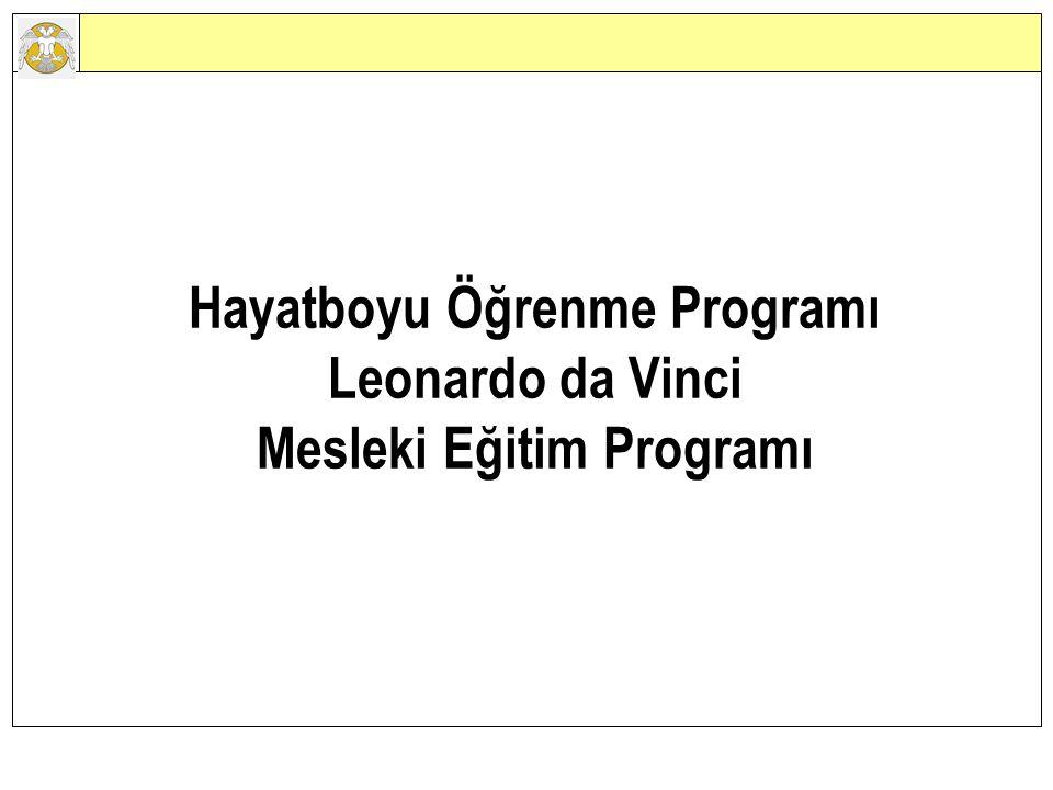 Hayatboyu Öğrenme Programı Leonardo da Vinci Mesleki Eğitim Programı