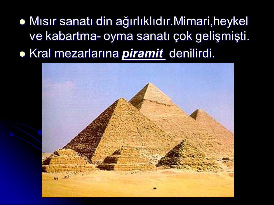 Mısır sanatı din ağırlıklıdır