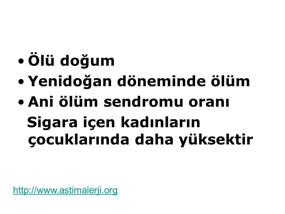 Yenidoğan döneminde ölüm Ani ölüm sendromu oranı
