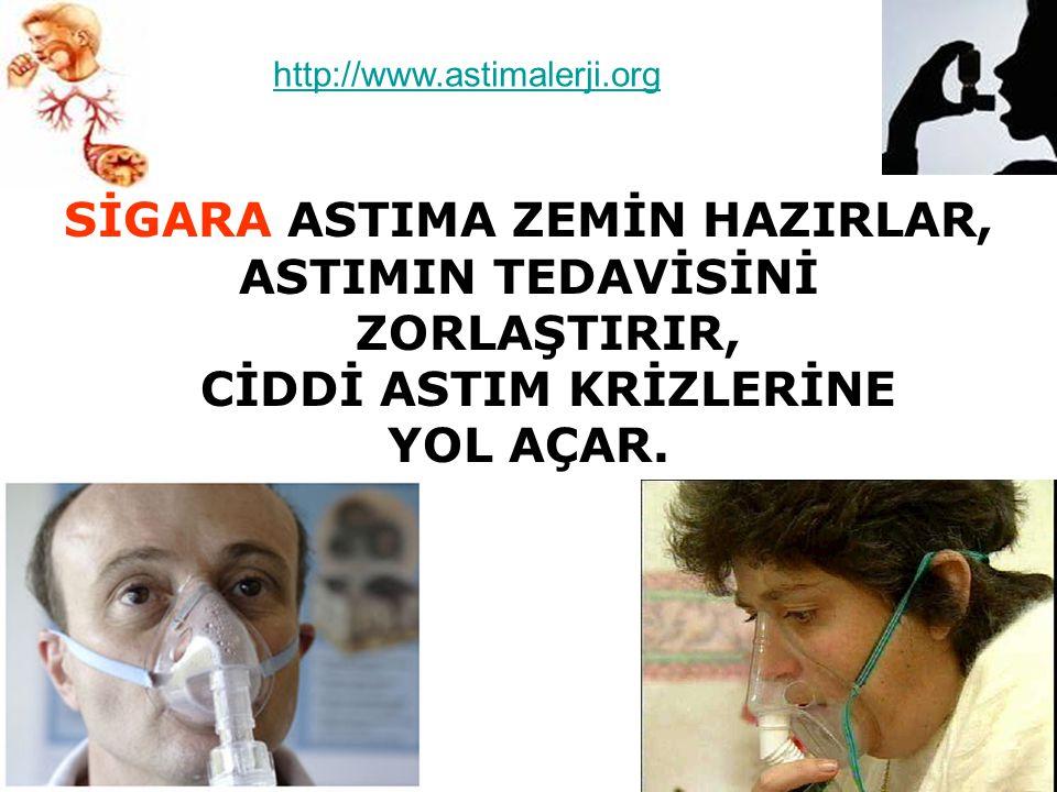 SİGARA ASTIMA ZEMİN HAZIRLAR,