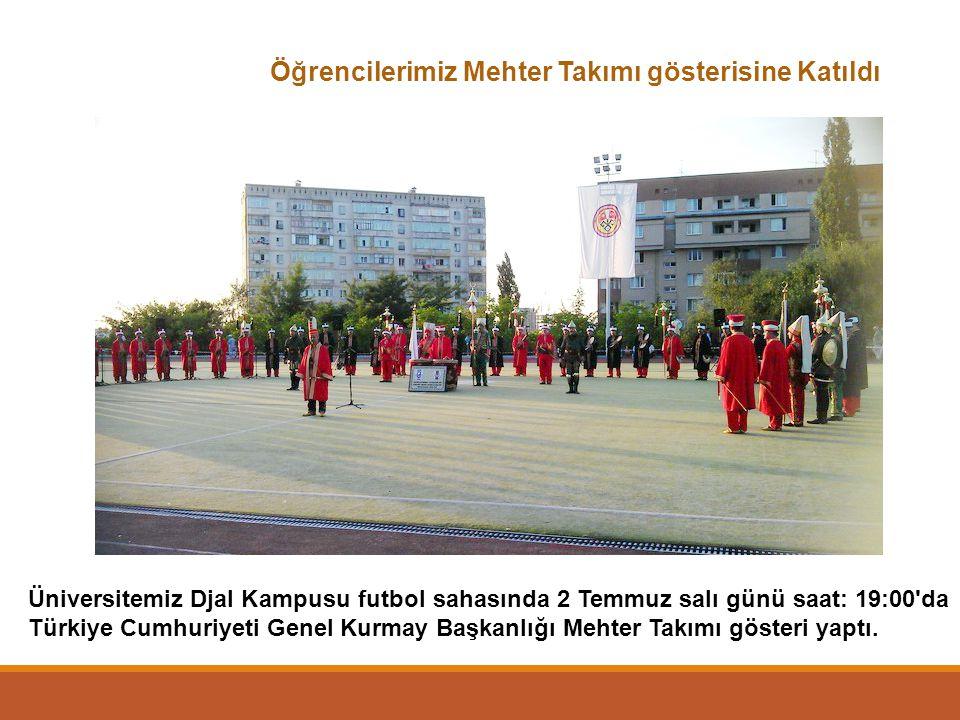 Öğrencilerimiz Mehter Takımı gösterisine Katıldı