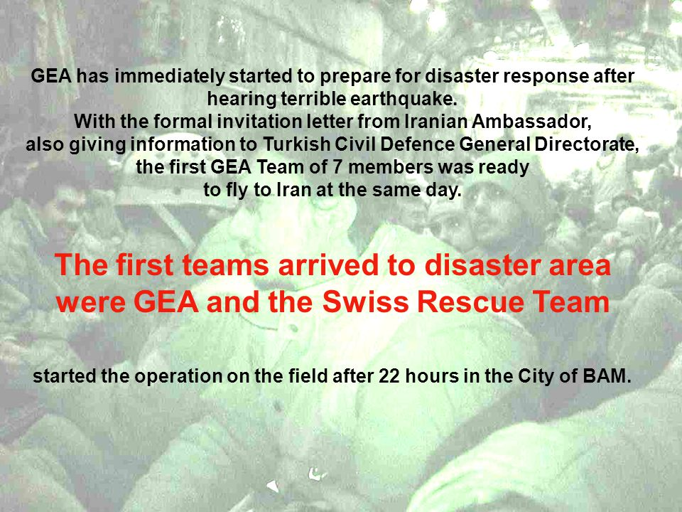 GEA has immediately started to prepare for disaster response after hearing terrible earthquake.