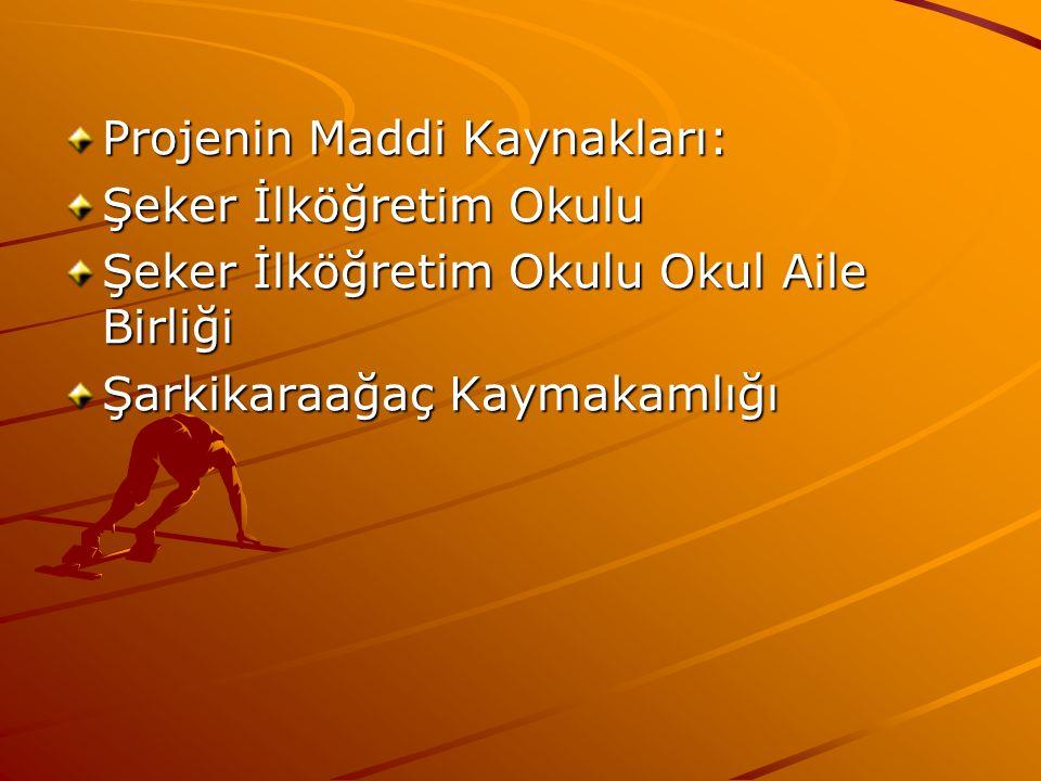 Projenin Maddi Kaynakları: