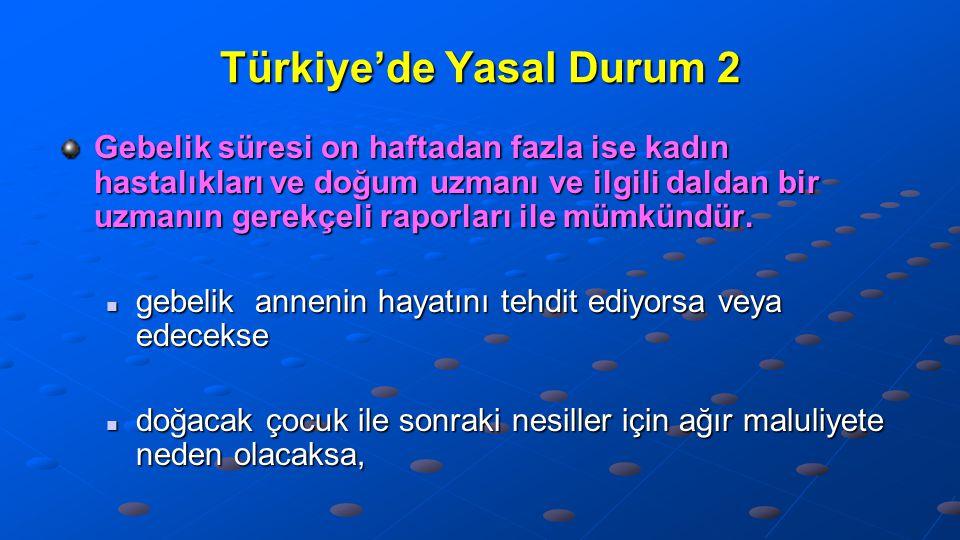 Türkiye'de Yasal Durum 2