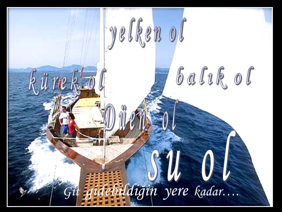 yelken ol balık ol kürek ol Düen ol su ol