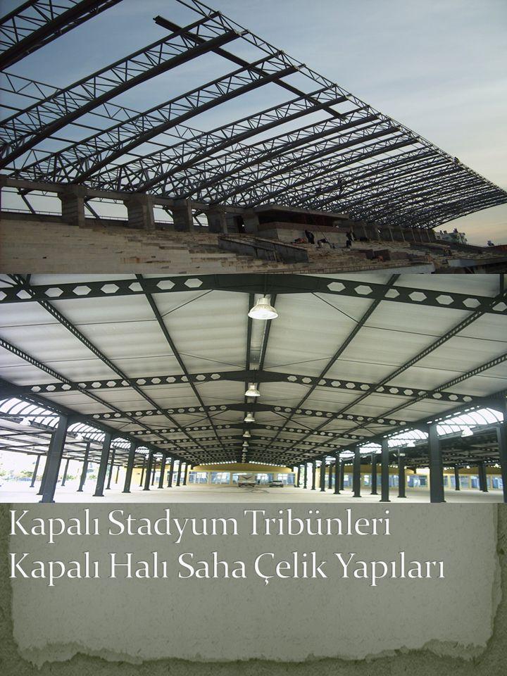 Kapalı Stadyum Tribünleri Kapalı Halı Saha Çelik Yapıları