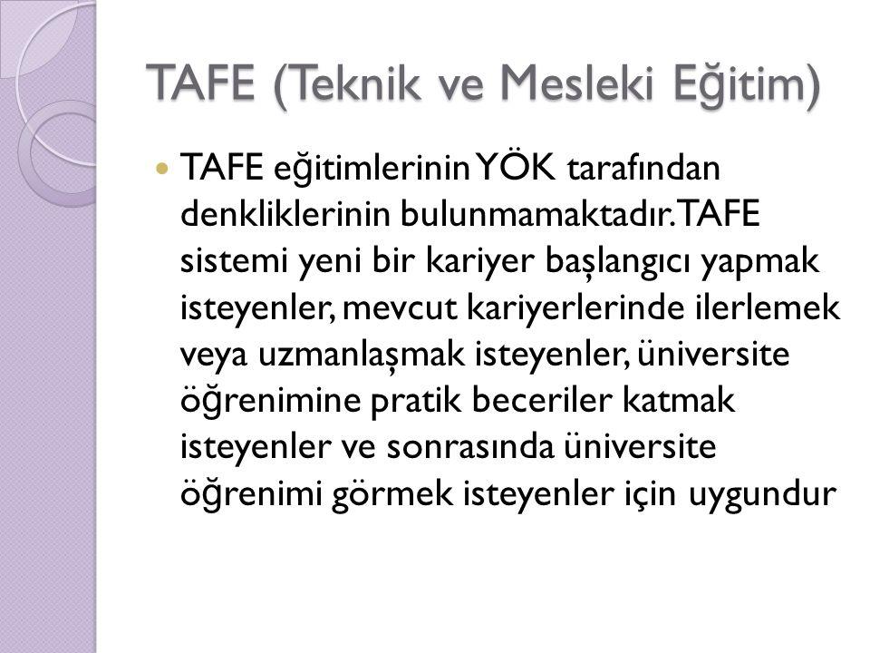 TAFE (Teknik ve Mesleki Eğitim)