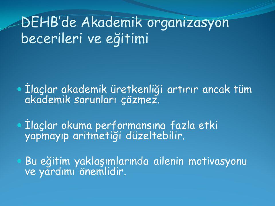 DEHB'de Akademik organizasyon becerileri ve eğitimi