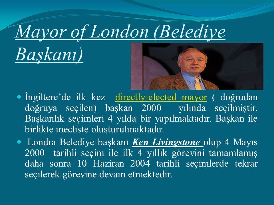 Mayor of London (Belediye Başkanı)