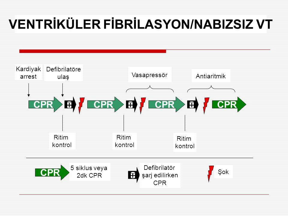 VENTRİKÜLER FİBRİLASYON/NABIZSIZ VT
