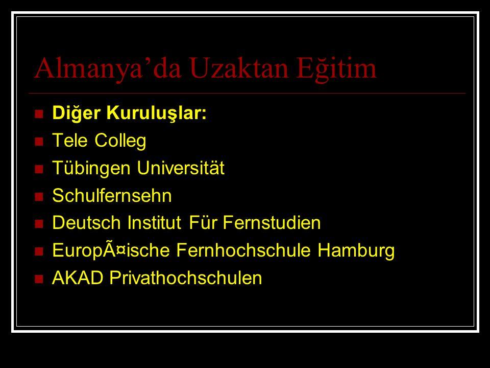 Almanya'da Uzaktan Eğitim