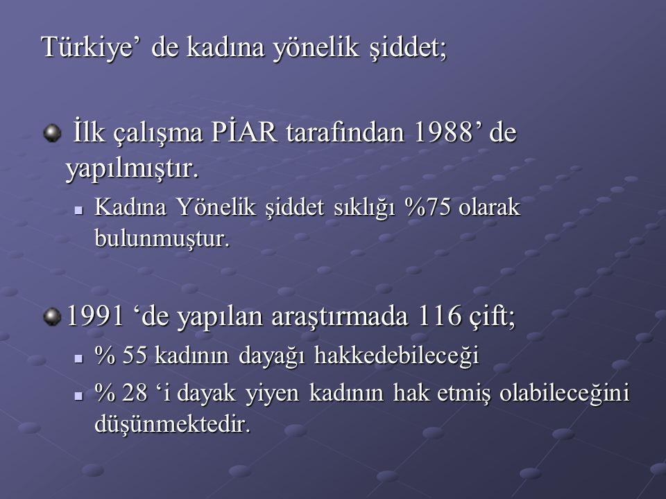 Türkiye' de kadına yönelik şiddet;