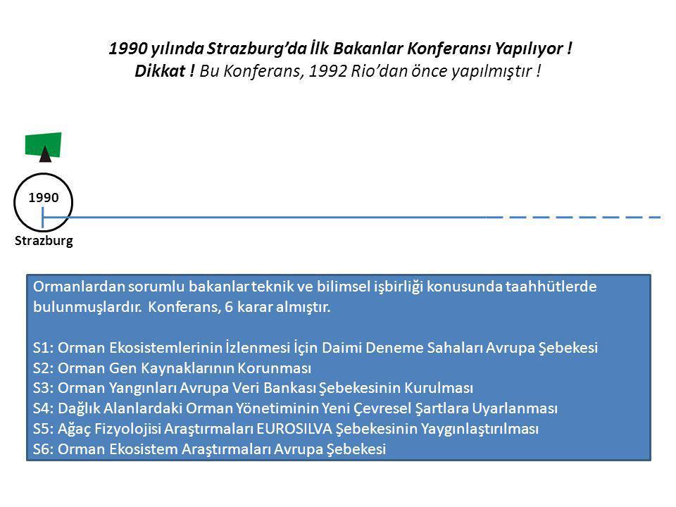 1990 yılında Strazburg'da İlk Bakanlar Konferansı Yapılıyor. Dikkat