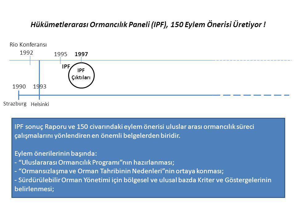 Hükümetlerarası Ormancılık Paneli (IPF), 150 Eylem Önerisi Üretiyor !
