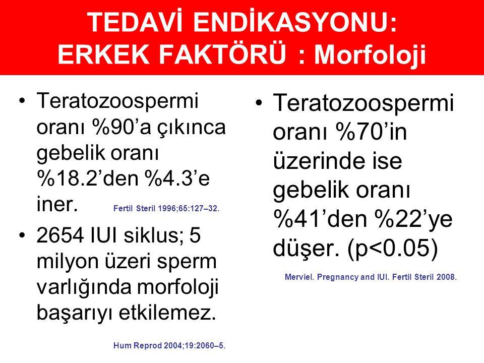 TEDAVİ ENDİKASYONU: ERKEK FAKTÖRÜ : Morfoloji