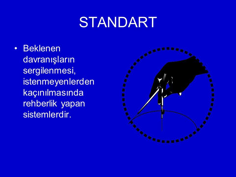 STANDART Beklenen davranışların sergilenmesi, istenmeyenlerden kaçınılmasında rehberlik yapan sistemlerdir.