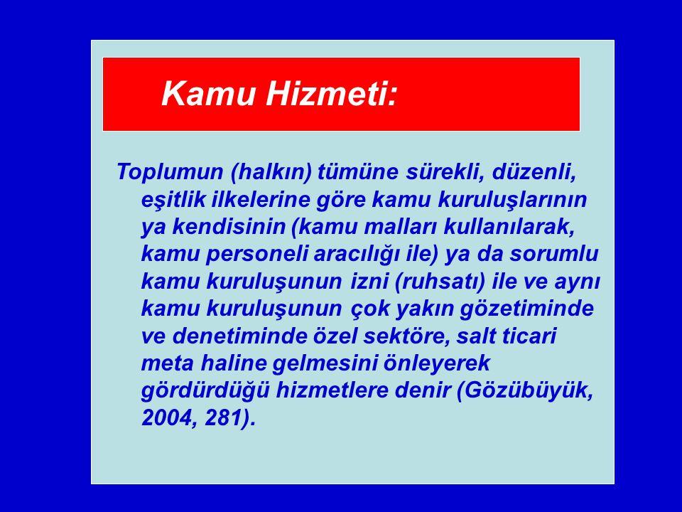 Kamu Hizmeti: