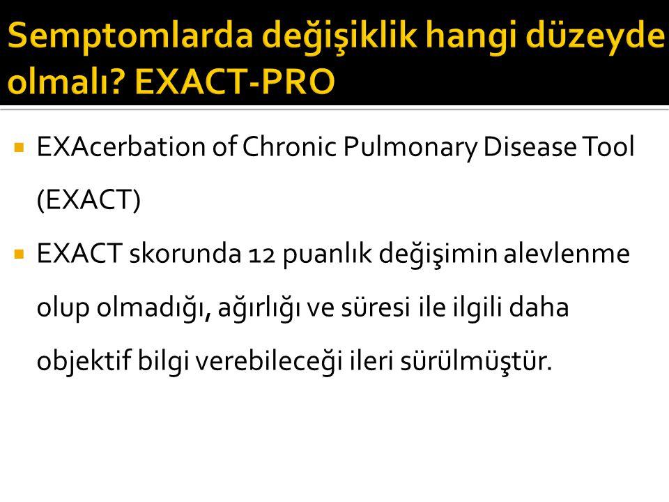 Semptomlarda değişiklik hangi düzeyde olmalı EXACT-PRO