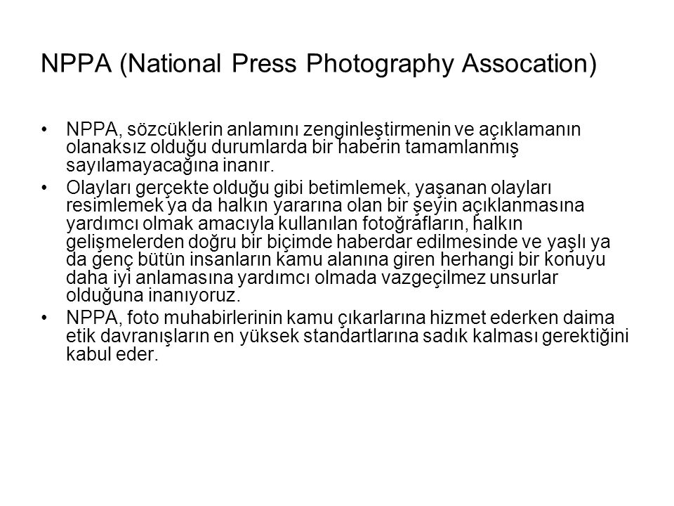 NPPA (National Press Photography Assocation)