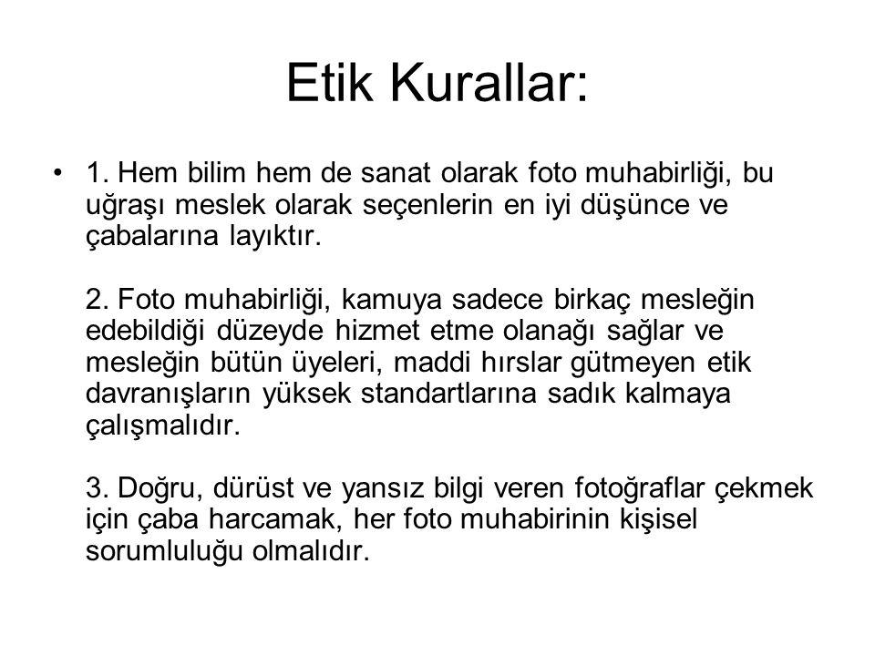 Etik Kurallar: