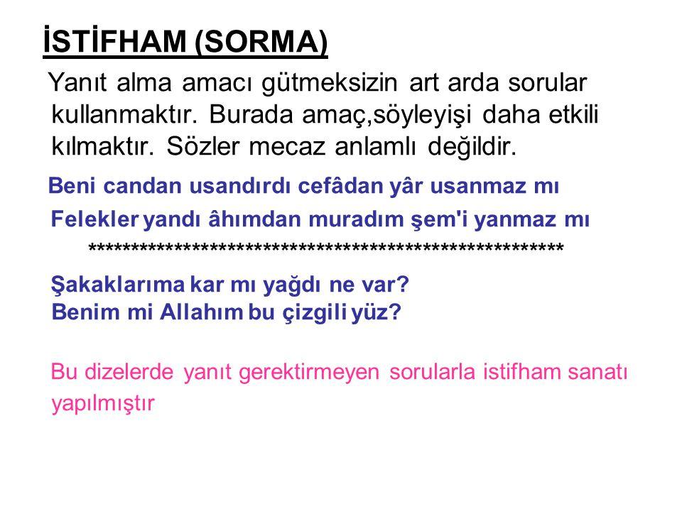 İSTİFHAM (SORMA)