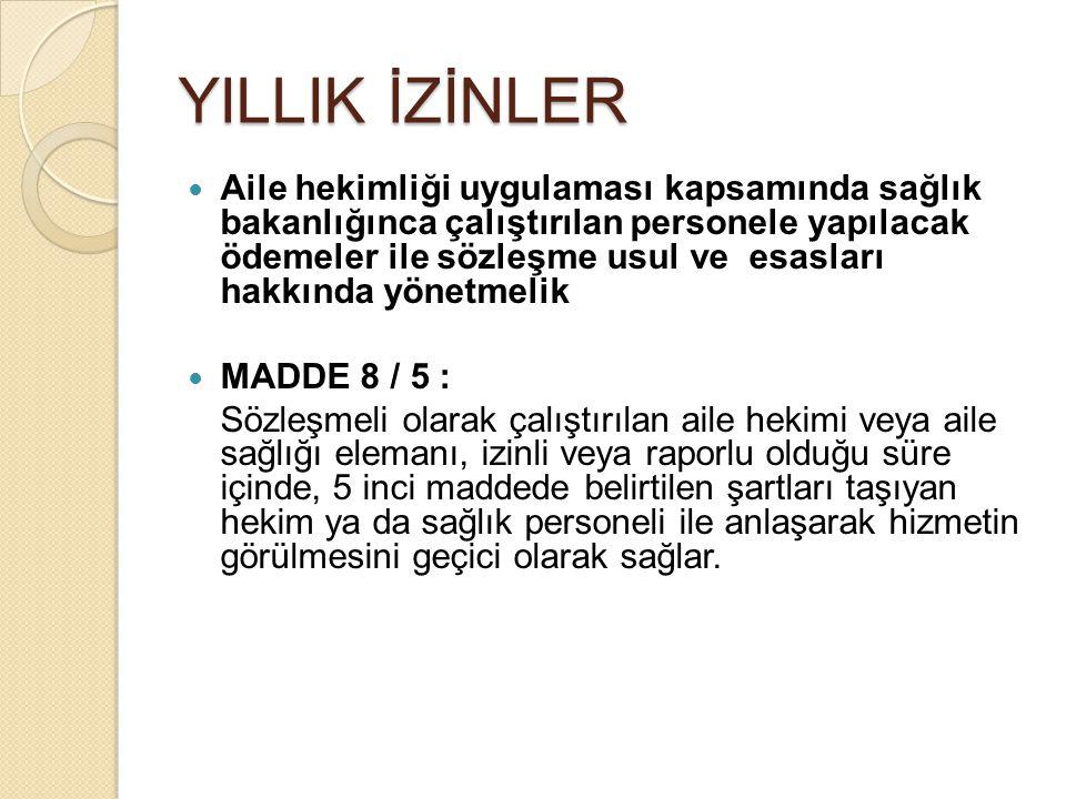 YILLIK İZİNLER