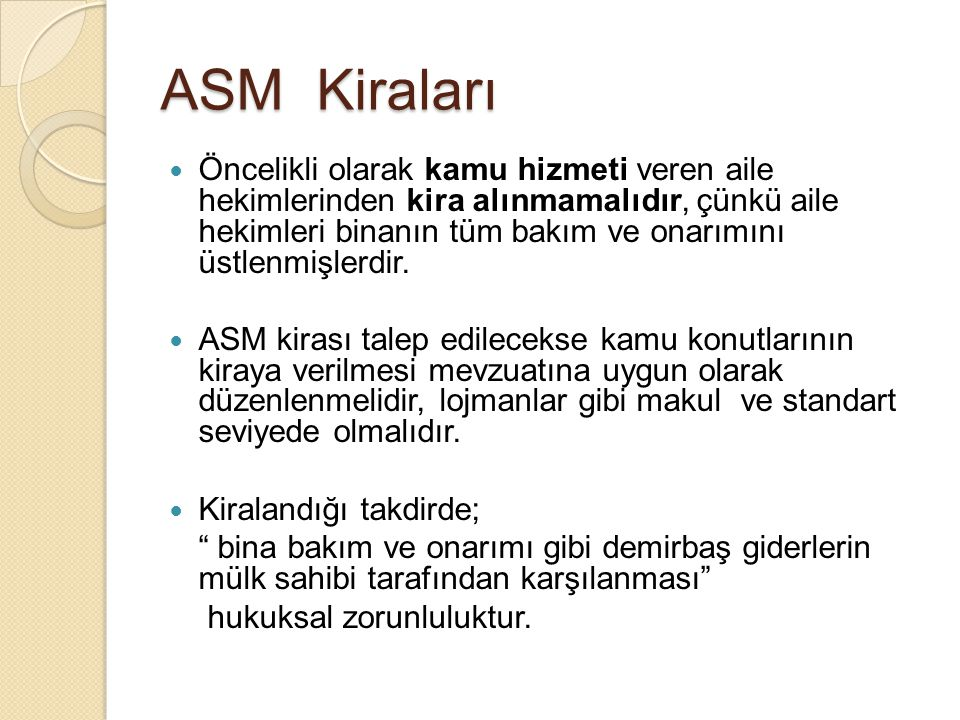 ASM Kiraları