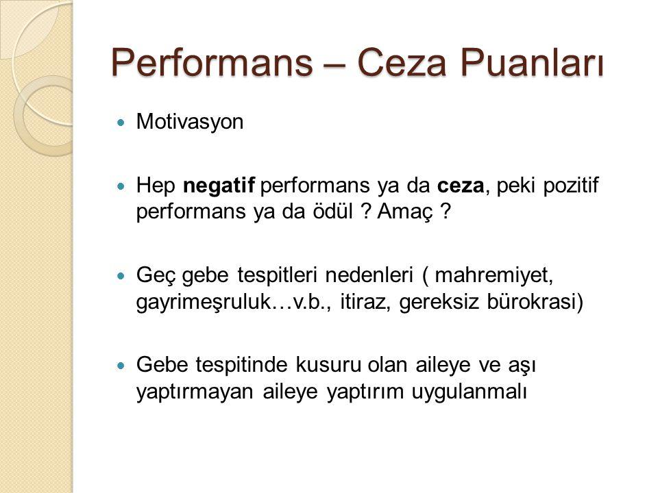 Performans – Ceza Puanları