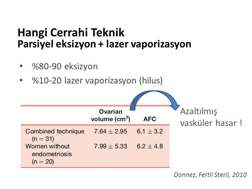 %80-90 eksizyon %10-20 lazer vaporizasyon (hilus)