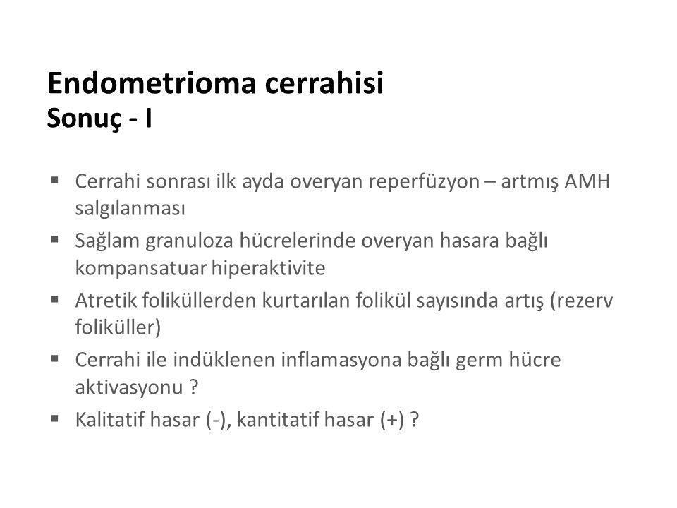Endometrioma cerrahisi Sonuç - I