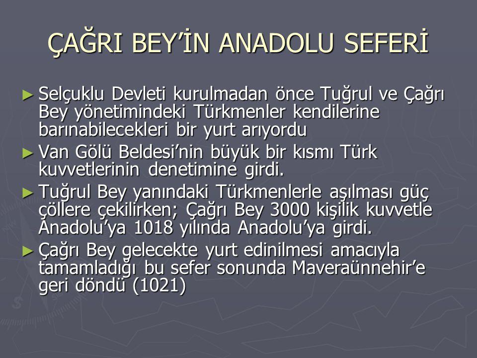 ÇAĞRI BEY'İN ANADOLU SEFERİ