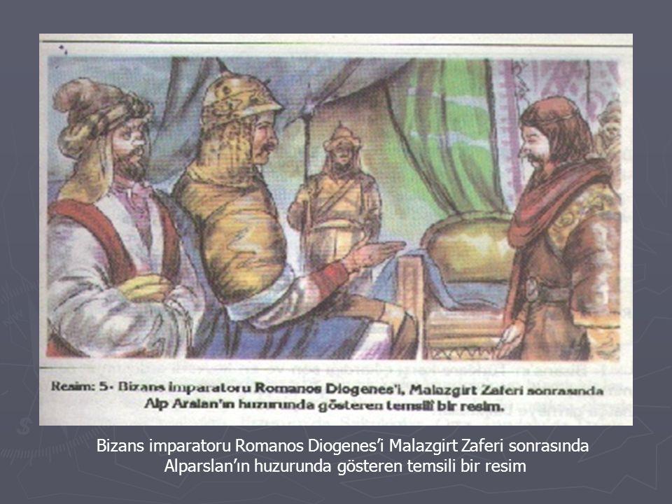 Bizans imparatoru Romanos Diogenes'i Malazgirt Zaferi sonrasında
