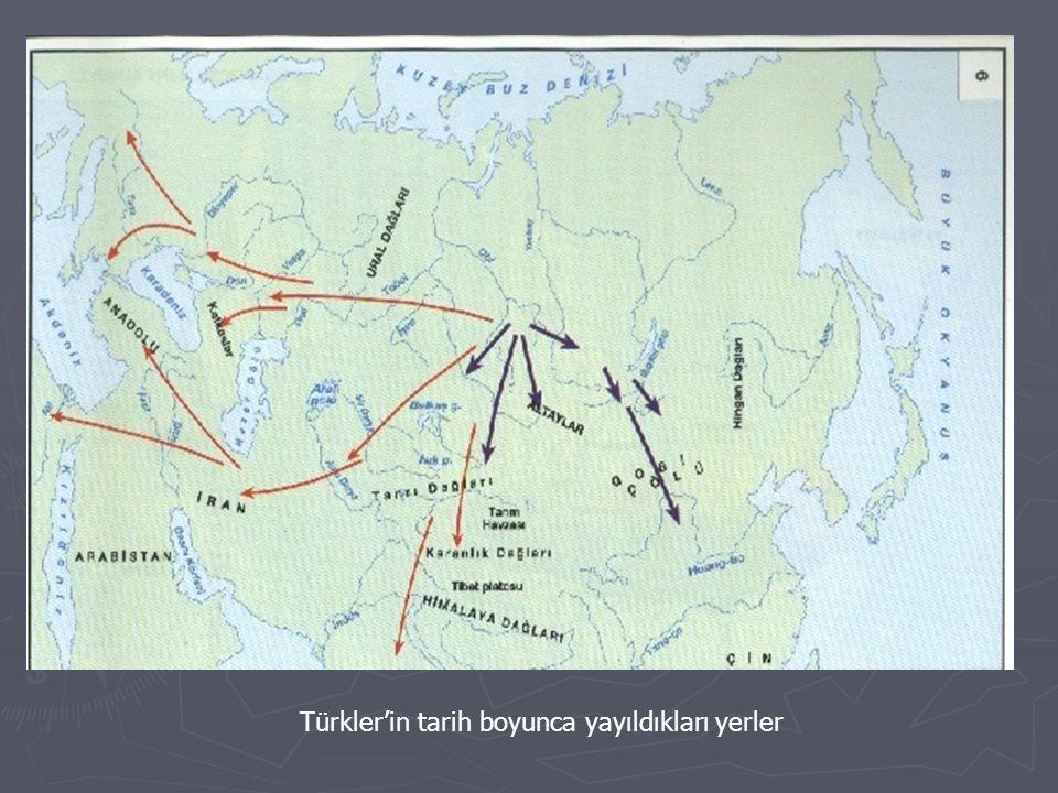 Türkler'in tarih boyunca yayıldıkları yerler