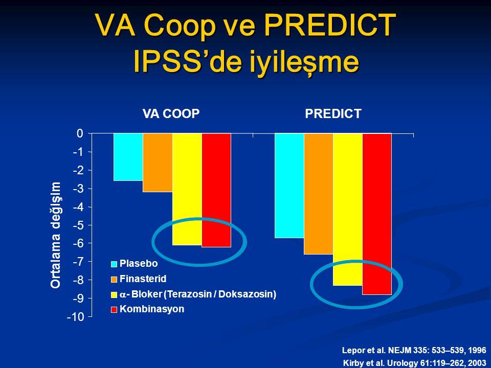 VA Coop ve PREDICT IPSS'de iyileşme